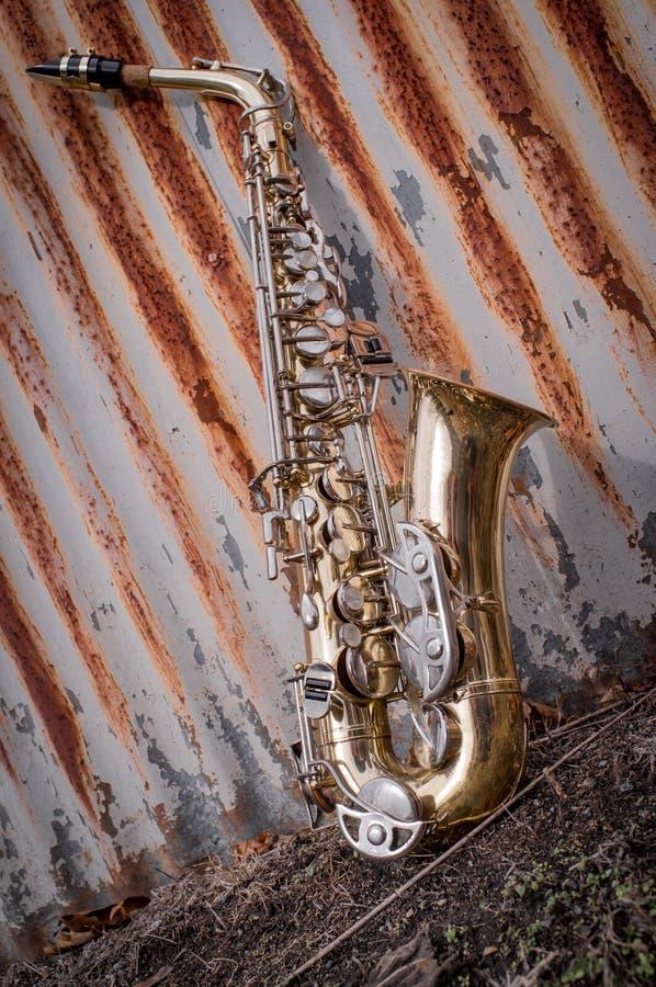 Jazz Saxophone Grunge imagen de archivo