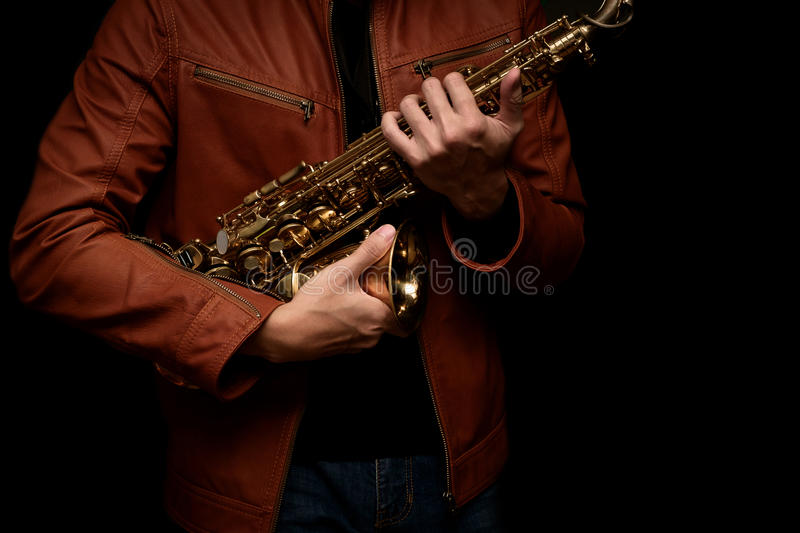 Jazz Saxophone Player fotos de stock royalty free