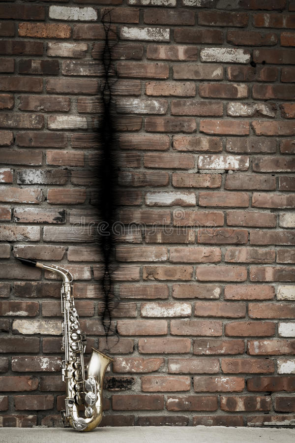 Jazz Saxophone Sound Wave foto de stock
