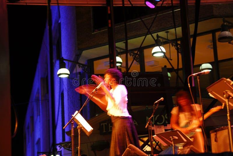 Jazz singer royalty free stock photo