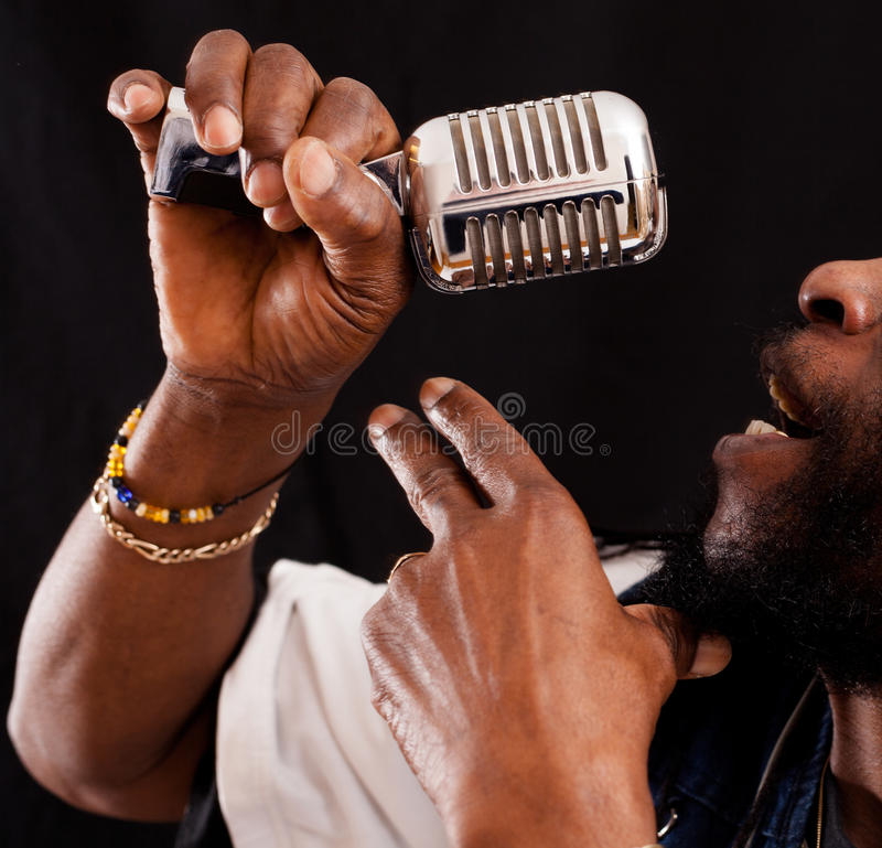 Download Jazz Singer with Micro stock image. Image of concert - 29050667