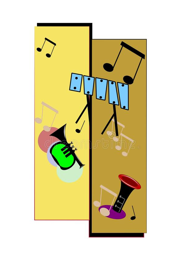 Download Jazz sounds in the night stock vector. Image of musical - 23796730