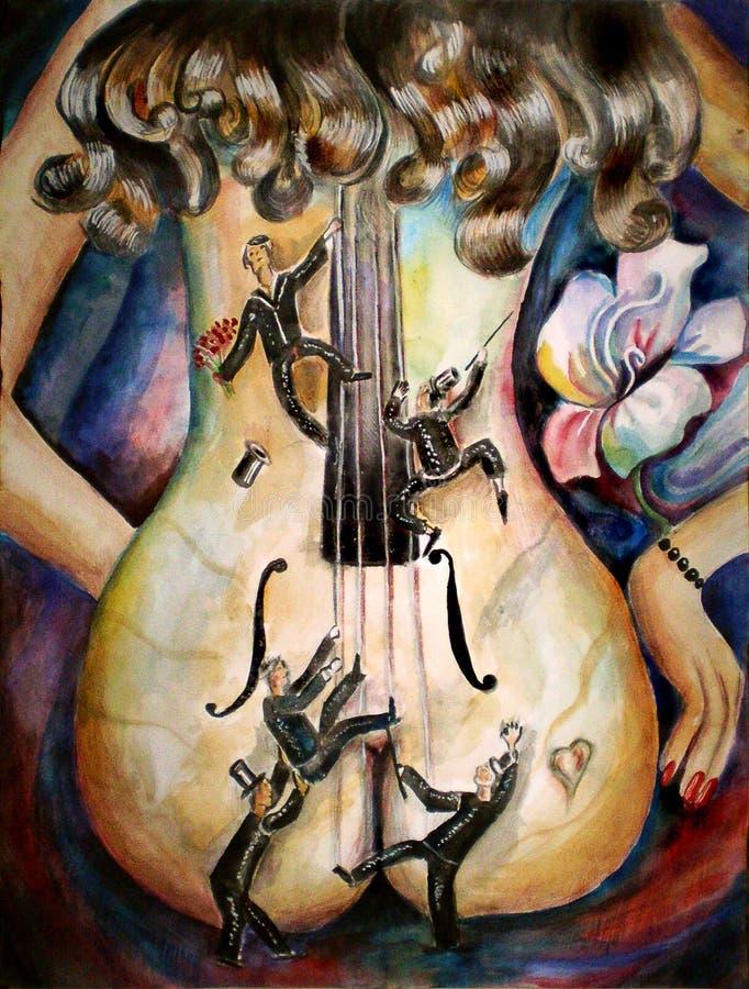 Jazz sur le dos illustration stock