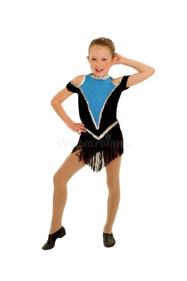 Jazz-Tänzer mit Fluglage lizenzfreie stockbilder
