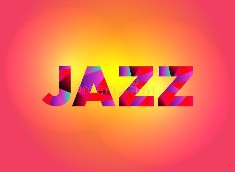 Jazz Theme Word Art Illustration stock illustrationer