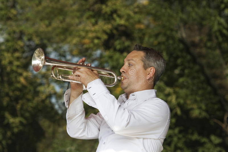 Jazz-Trompeter stockfotografie