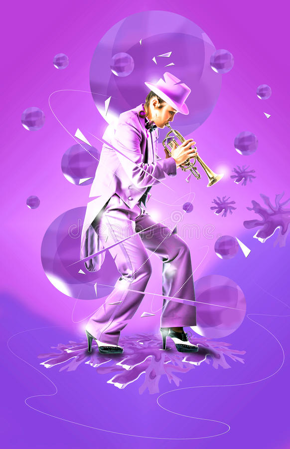 Download Jazz trumpet art stock photo. Image of dance, music, woman - 17583404