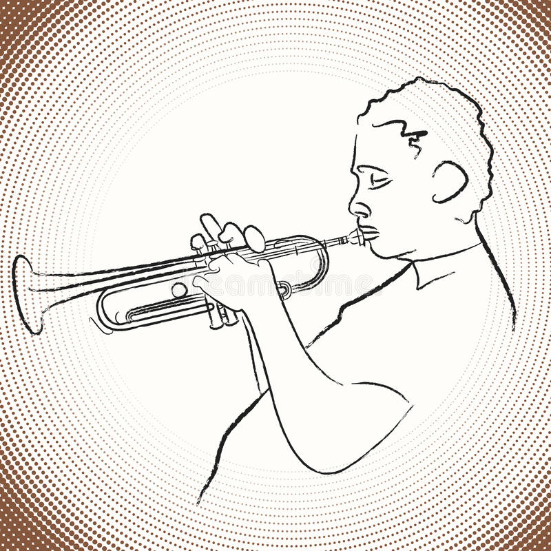 Download Jazz trumpet player stock vector. Illustration of solo - 9700410
