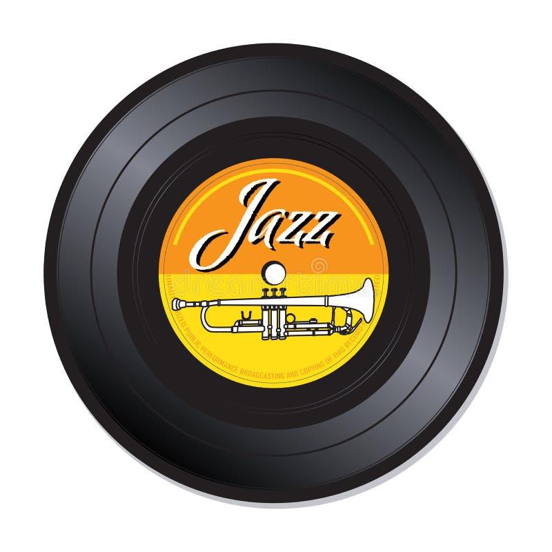 Jazz vinyl record stock photo