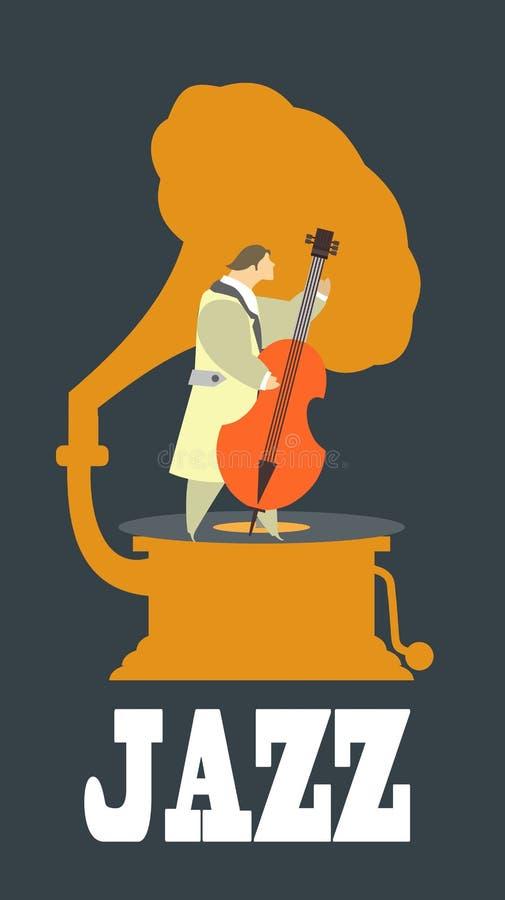 Jazz y azules stock de ilustración