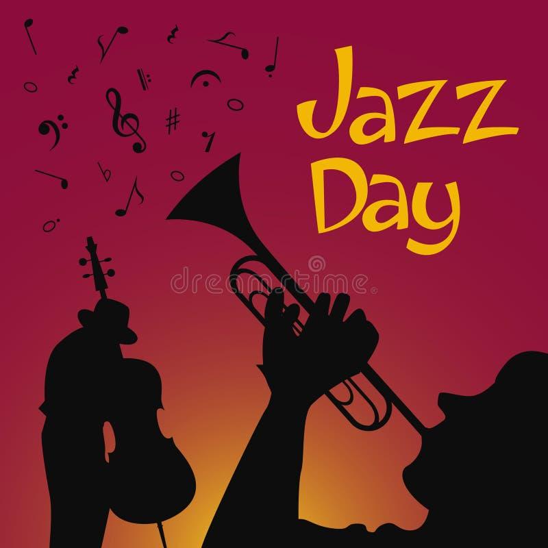 Jazzdaguppsättning stock illustrationer