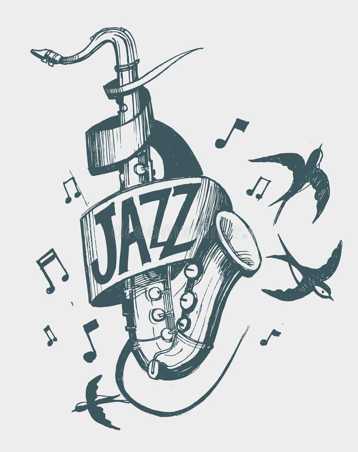 Jazzemblem stockbilder