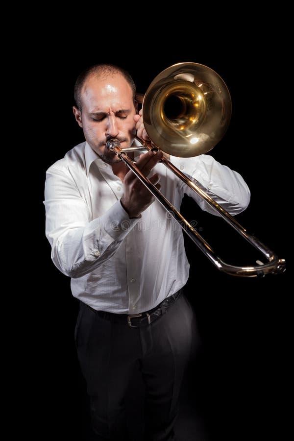Jazzer nad czernią zdjęcie royalty free
