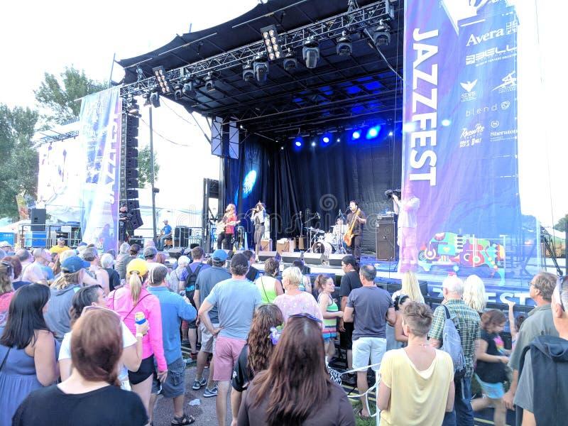 JazzFest van Sioux Falls Jazz & Blauw stock foto