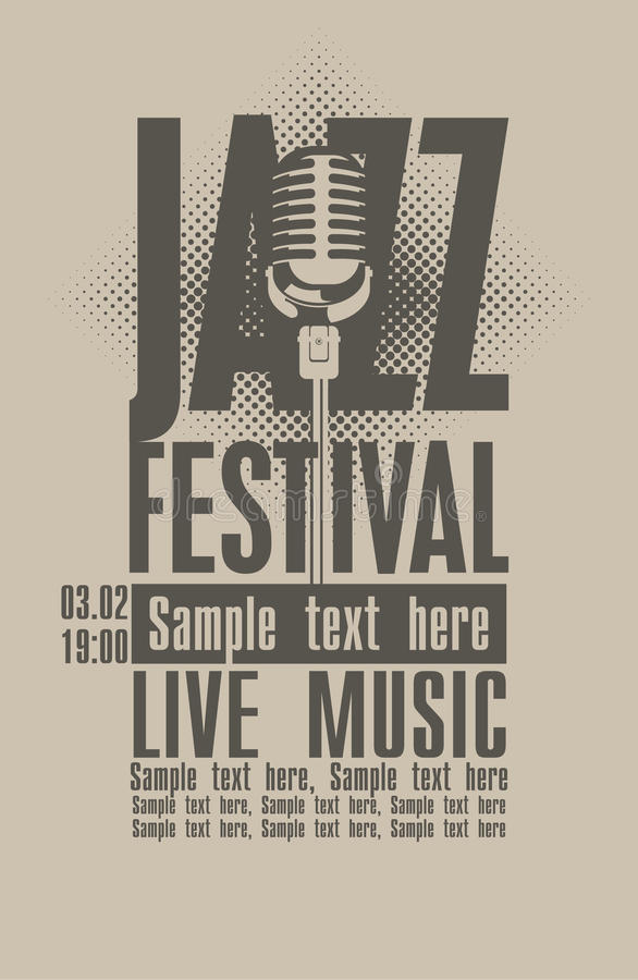 Jazzfestival vector illustratie