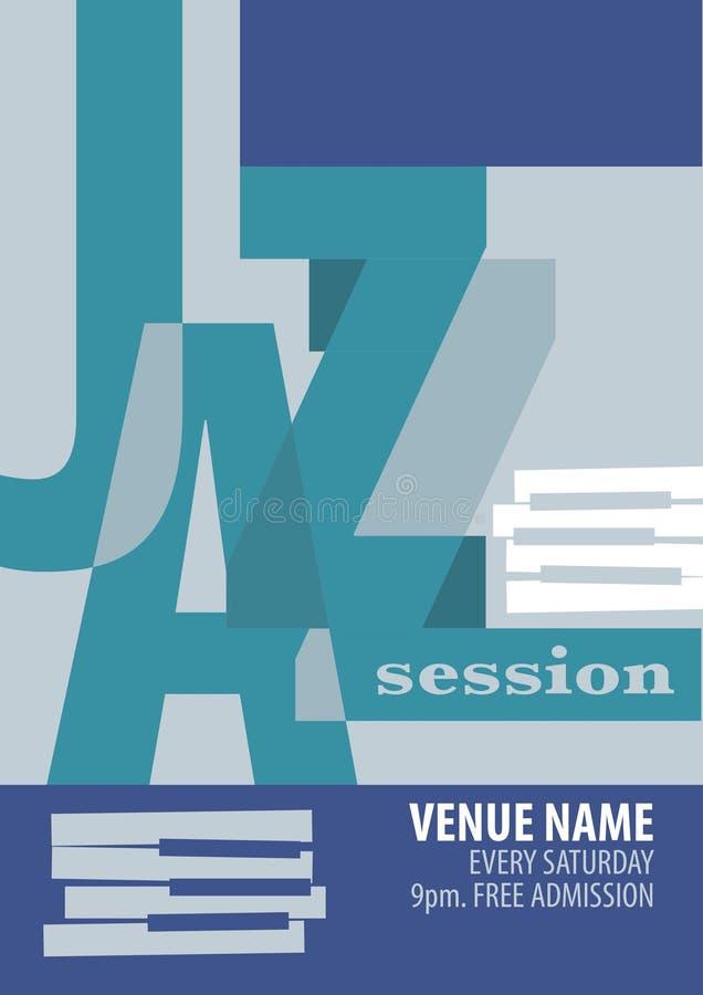 Jazzfestival-Plakatschablone vektor abbildung