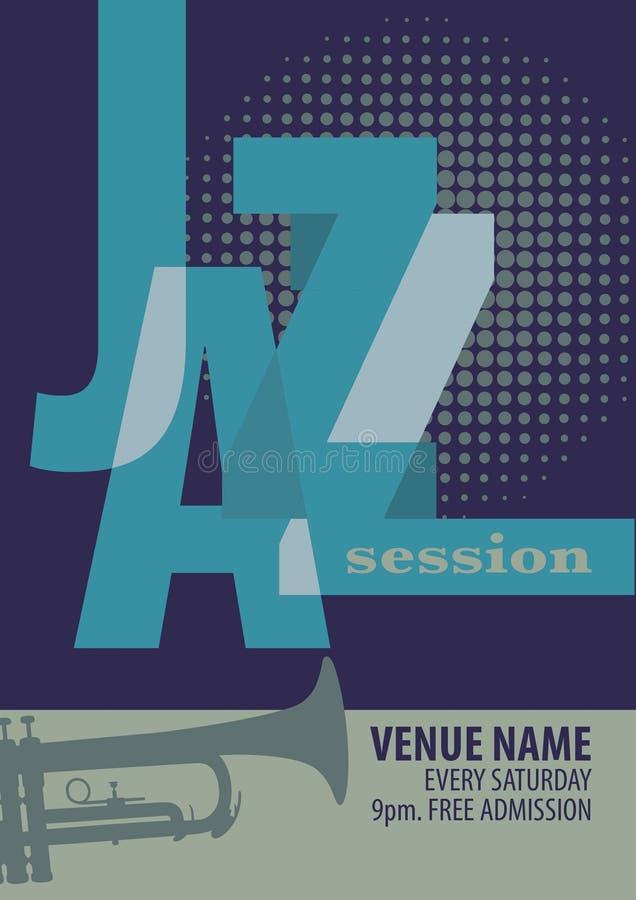 Jazzfestival-Plakatschablone lizenzfreie abbildung