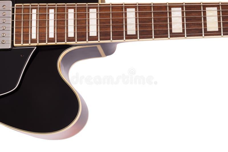 Jazzgitarrenabschluß oben stock abbildung