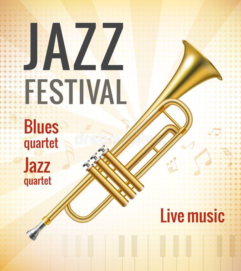Jazzkonsertaffisch stock illustrationer
