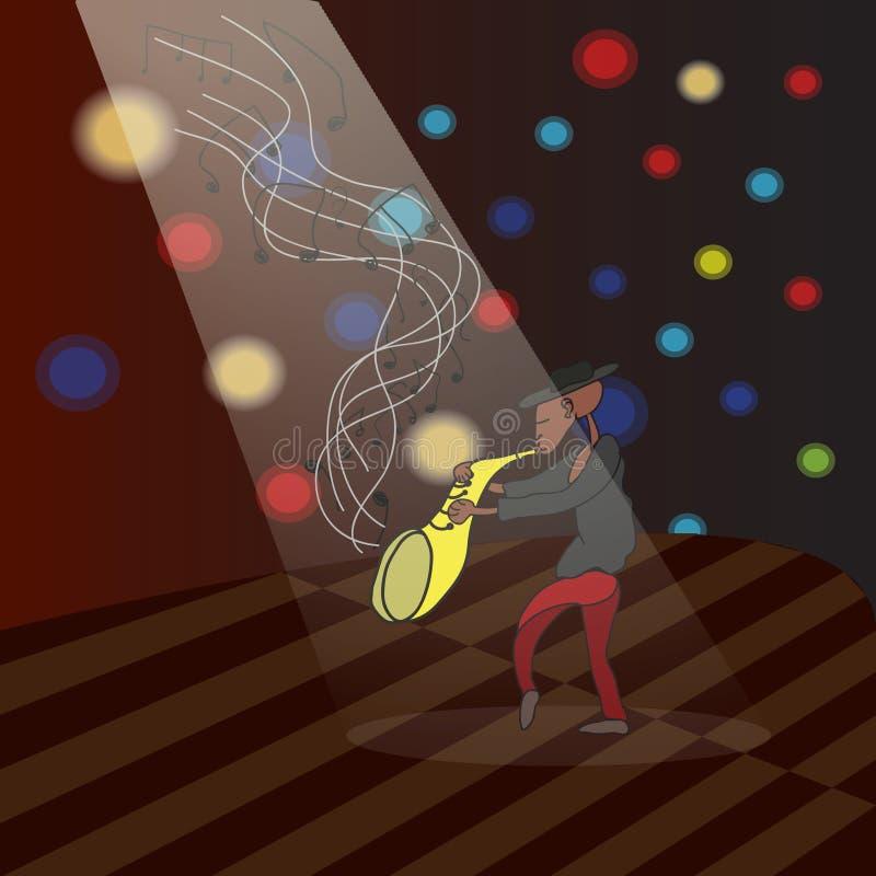 Jazzman B arkivbild