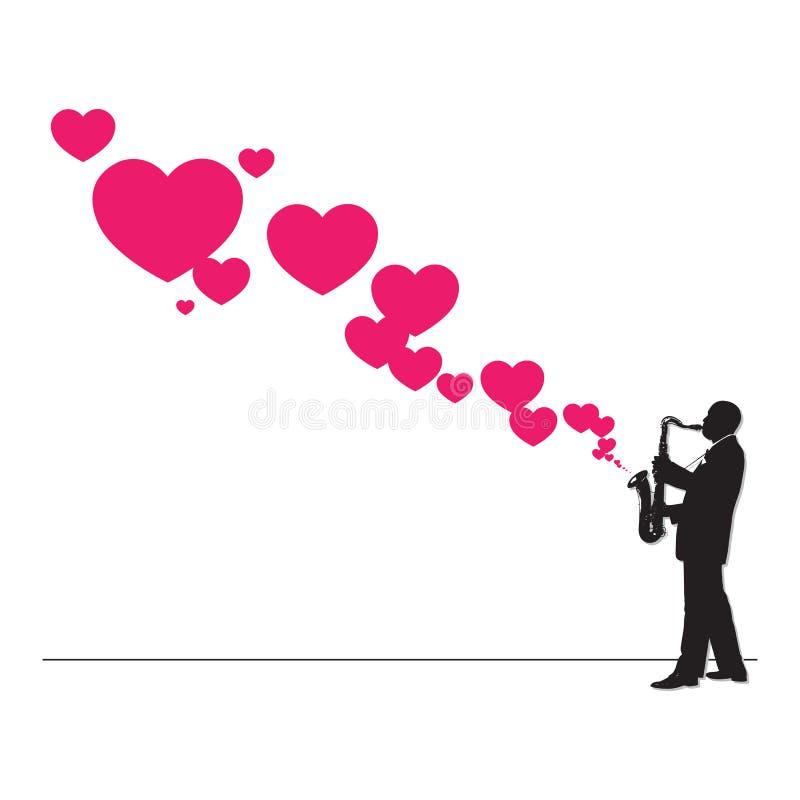 Jazzman and hearts