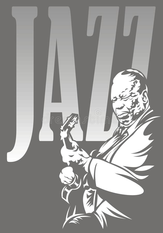 Download Jazzman and jazz stock vector. Image of music, background - 30294653