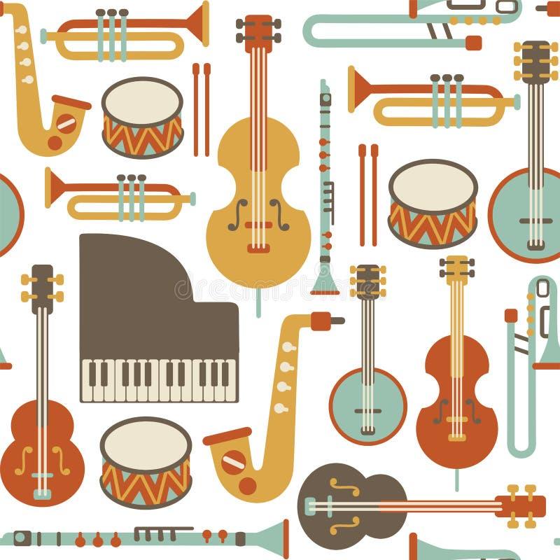 Jazzmodell vektor illustrationer