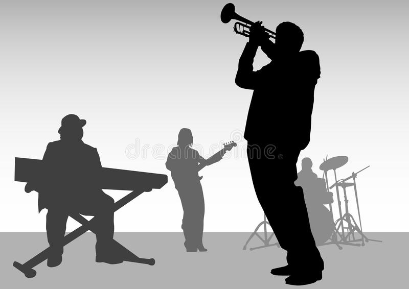 jazzmusik vektor illustrationer