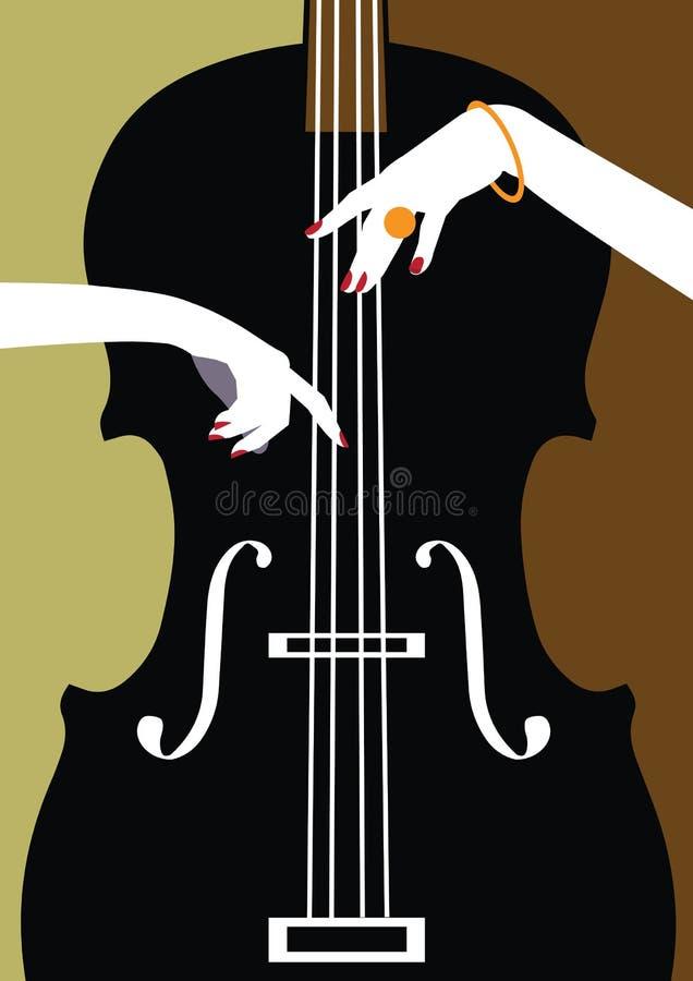 Jazzmusikfestival, Plakathintergrund stock abbildung