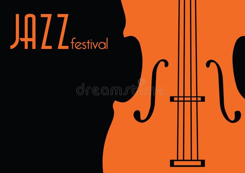 Jazzmusikfestival, Plakathintergrundschablone lizenzfreie abbildung