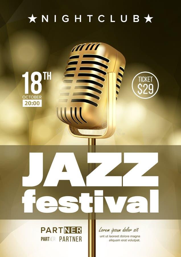 Jazzowa Improwizacyjna festiwal ulotka, broszurka wektoru szablon ilustracja wektor