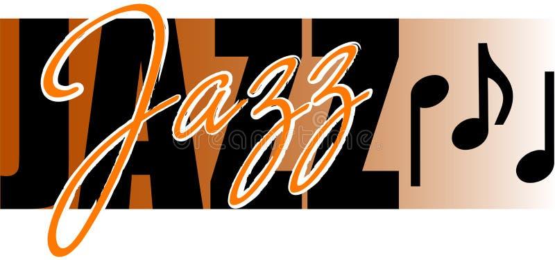 jazzowa muzyka royalty ilustracja