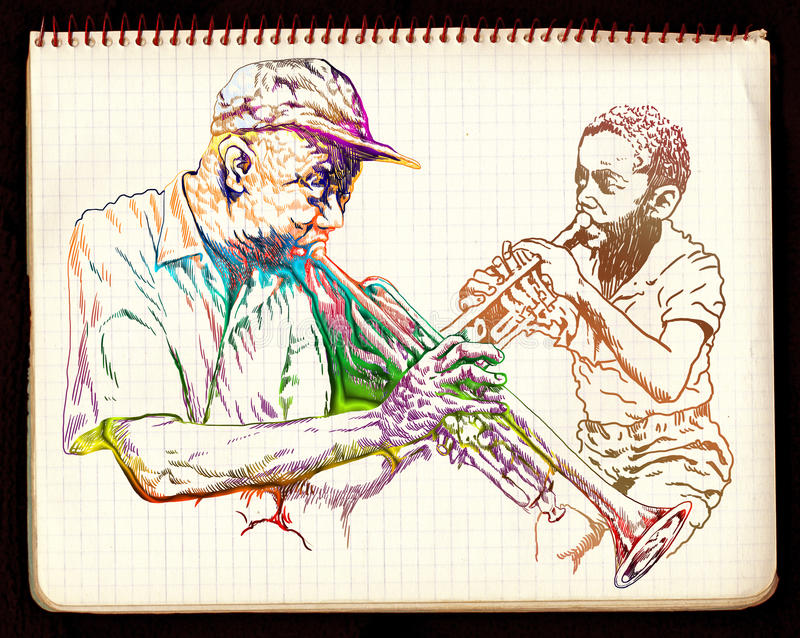 jazzowa sesja ilustracji