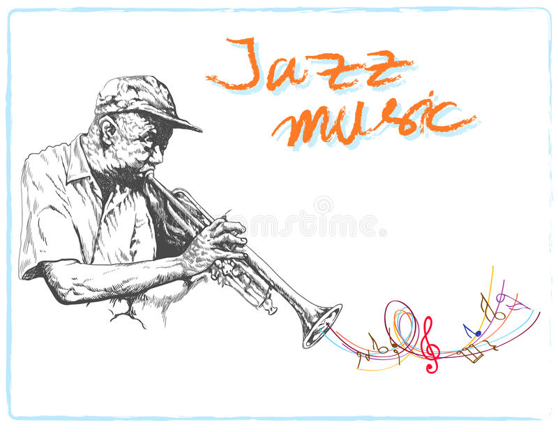 jazzowa sesja royalty ilustracja