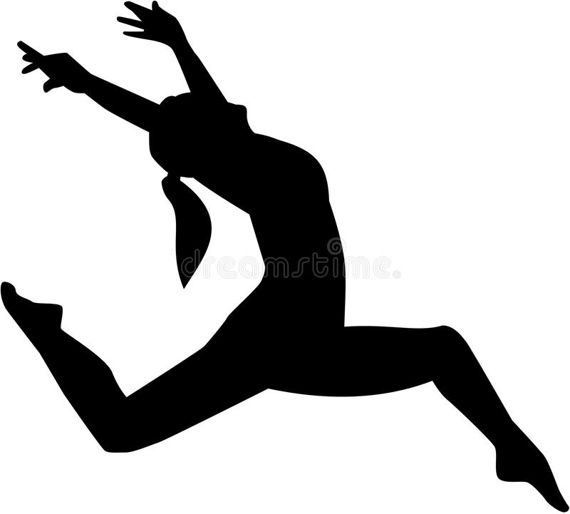 Jazzowa tancerz kobieta royalty ilustracja
