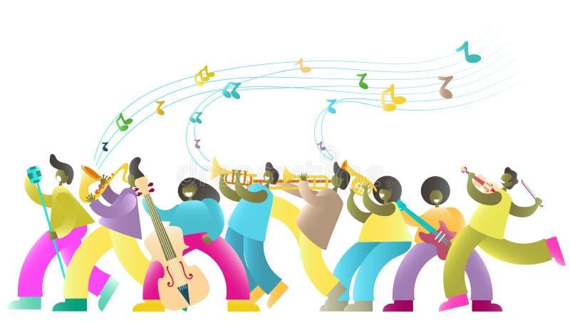 Jazzowego festiwalu muzykiego sztandaru wektorowy plakatowy szablon ilustracji