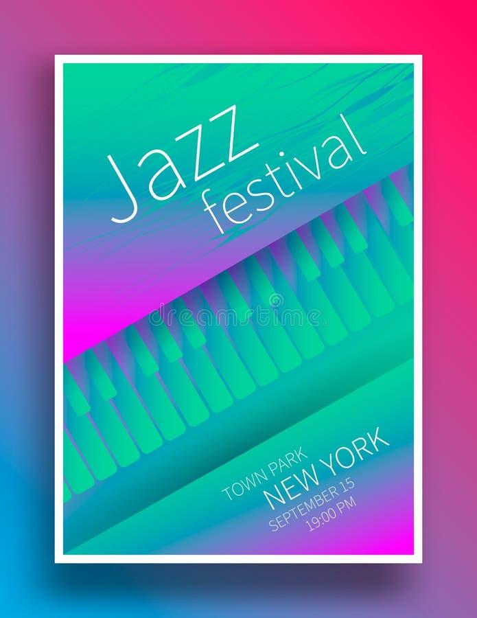 Jazzowy festiwalu muzyki plakat ilustracji