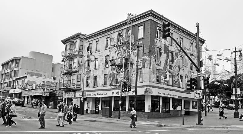 Jazzowy Malowidło ścienne w Broodway Ulicie w San Fransisco obraz stock