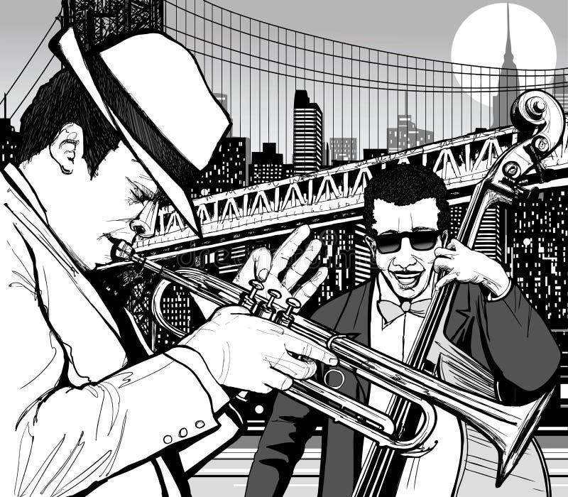 jazzowy nowy York royalty ilustracja