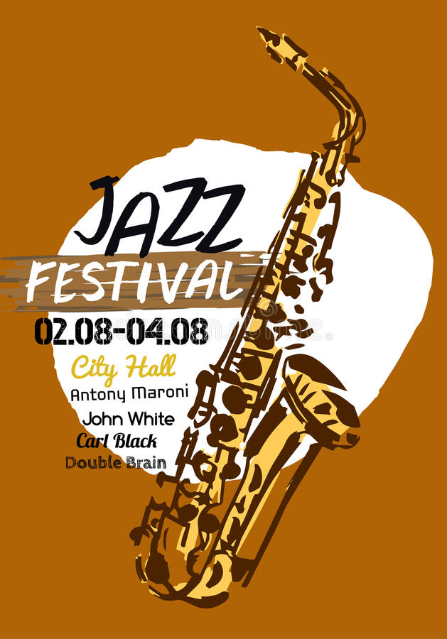 Jazzowy plakat royalty ilustracja