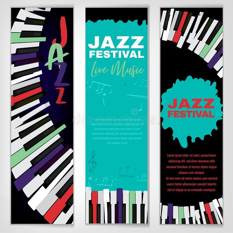 Jazzowy plakata set ilustracja wektor