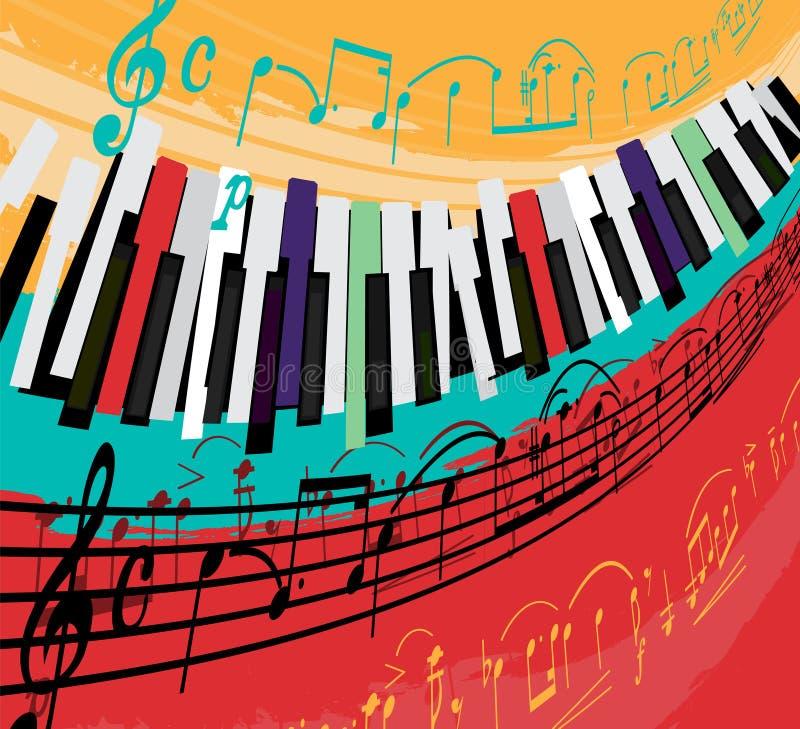 Jazzowy Plakatowy tło ilustracji