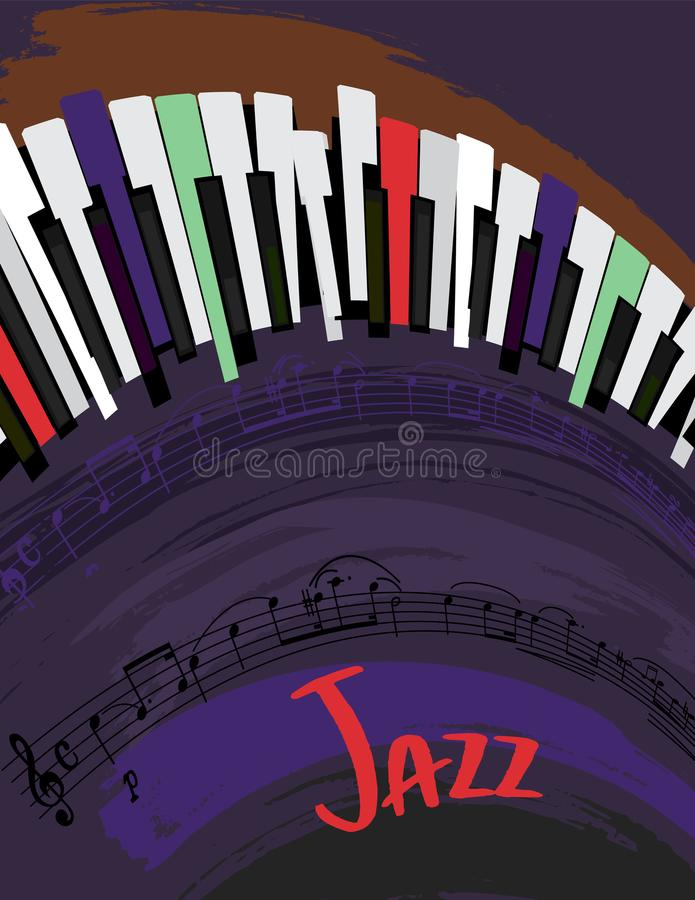 Jazzowy Plakatowy tło royalty ilustracja
