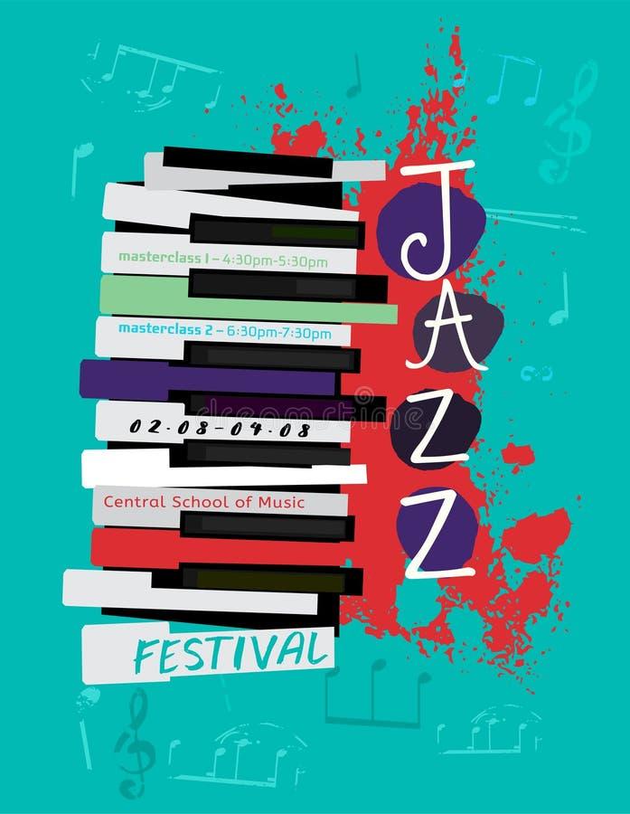 Jazzowy plakatowy wizerunek royalty ilustracja