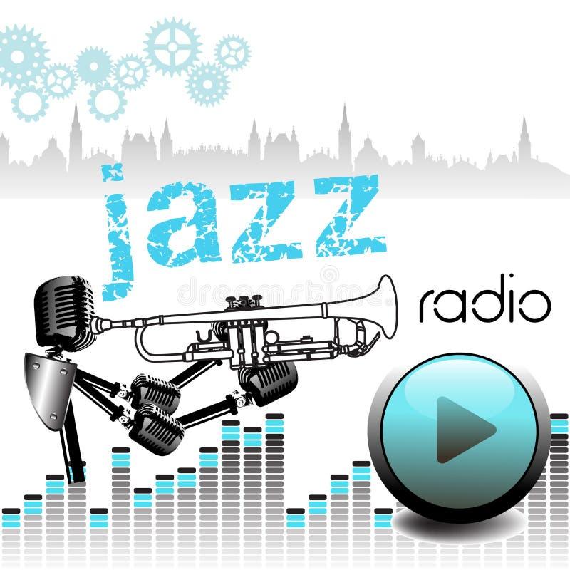 Jazzowy radio ilustracji