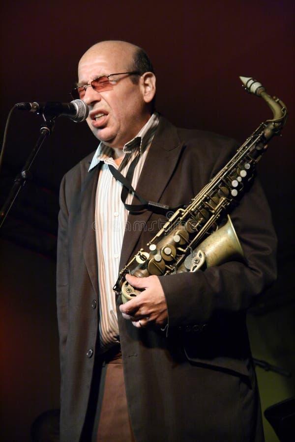 jazzowy saksofonista fotografia stock