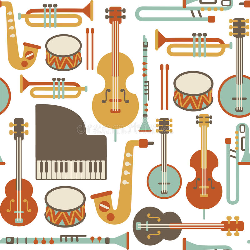 Jazzpatroon vector illustratie