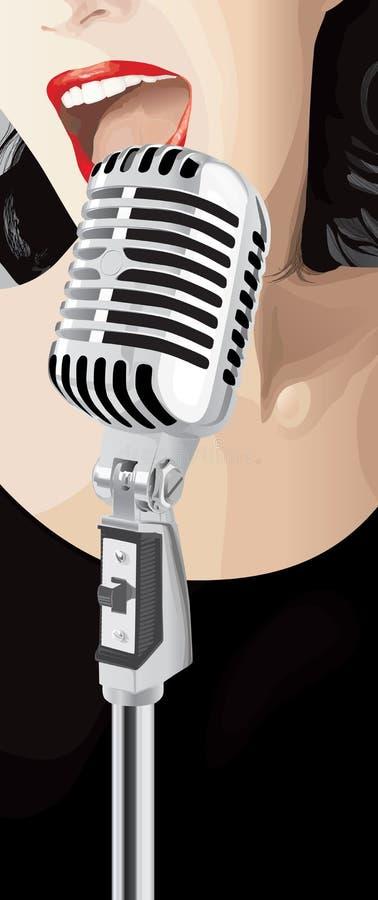 jazzsångarevektor vektor illustrationer