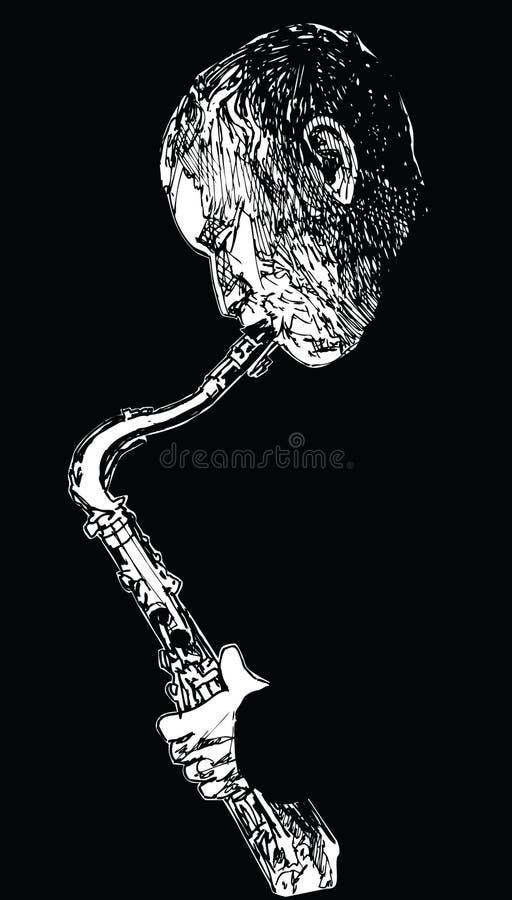 jazzsaxofonist fotografering för bildbyråer