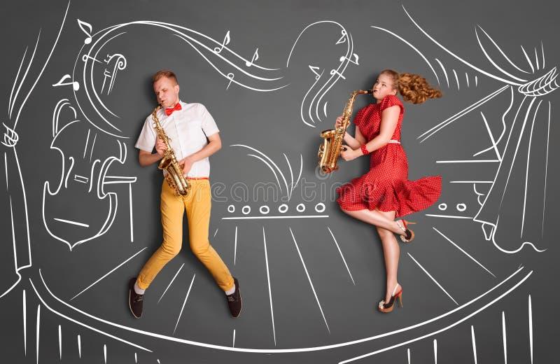 Jazzserenade royalty-vrije illustratie